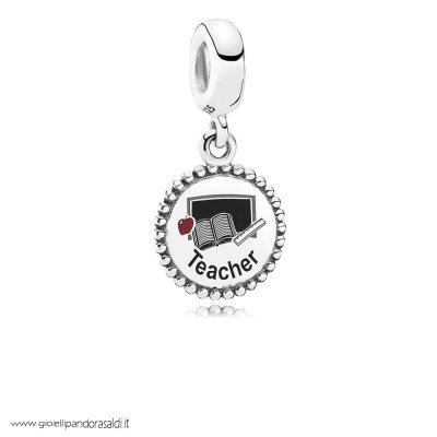Nuova Collezione Teacher Dangle Charm Mixed Enamel