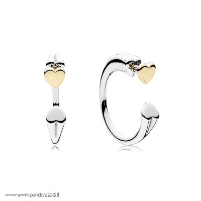 Nuova Collezione Two Hearts Earring Hoops
