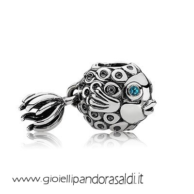 Nuova Collezione Animali Charms Splish Splash Deep Blue Topaz
