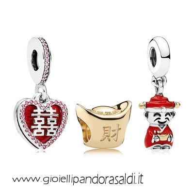 Nuova Collezione Happiness Fortune And Luck Charm Pack